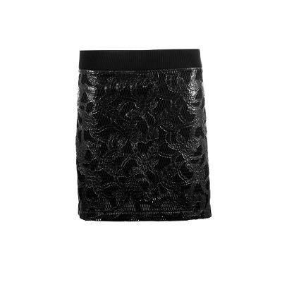 lace mini skirt black